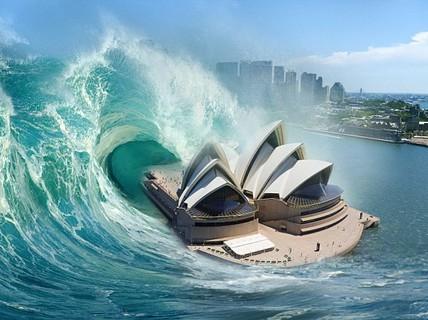 """Sóng thần """"quái vật"""" 60 m có thể tấn công Úc bất cứ lúc nào"""
