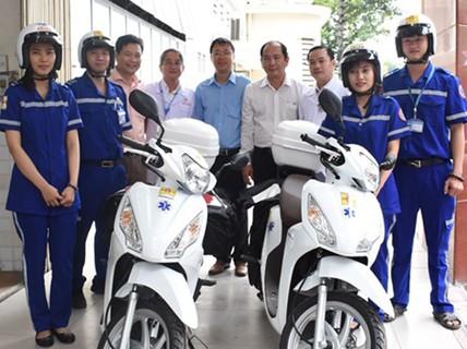 Thêm 5 bệnh viện cấp cứu bằng xe 2 bánh