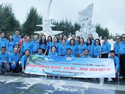 Cán bộ Công đoàn SAMCO viếng tượng đài chiến sĩ Gạc Ma