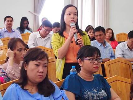 Lãnh đạo quận đối thoại với đại biểu dự đại hội Công đoàn
