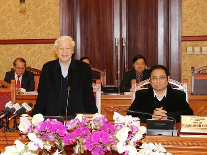 Tổng Bí thư chủ trì cuộc họp đầu tiên trong năm Mậu Tuất của Ban Bí thư