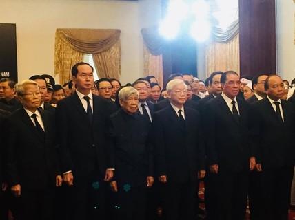 Lãnh đạo Đảng, Chính phủ, Quốc hội viếng nguyên Thủ tướng Phan Văn Khải