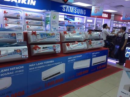 Phong phú thiết bị chống nóng, siêu thị điện máy hốt bạc