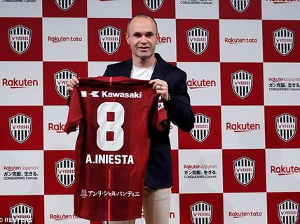 """Andres Iniesta gia nhập J-League, nhận lương """"khủng"""" 75 triệu euro"""