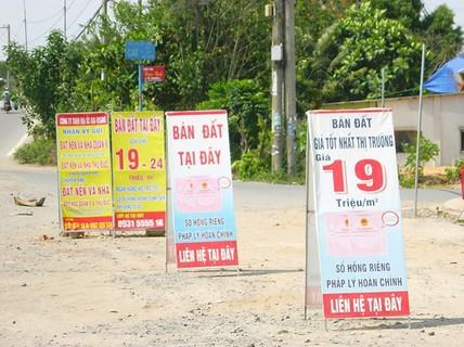 Đất nền đầu cơ tại TP HCM giảm giá mạnh