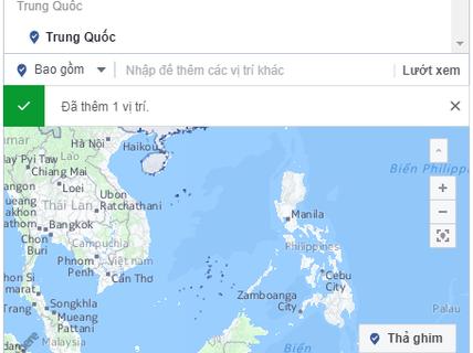 Bản đồ trên Facebook hiển thị Trường Sa, Hoàng Sa thuộc Trung Quốc: Đã sửa một phần lỗi