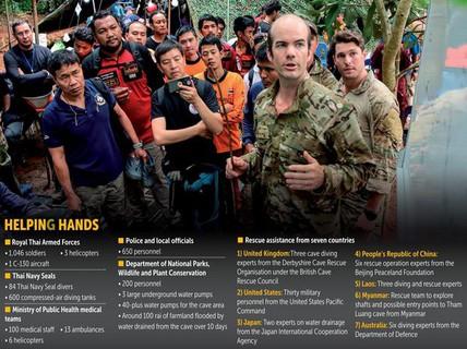 Những người hùng trên tuyến đầu giải cứu đội bóng mắc kẹt trong hang động Thái Lan