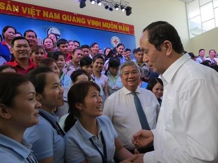 Tình cảm của Chủ tịch nước Trần Đại Quang với tổ chức Công đoàn và người lao động