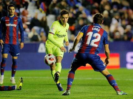 Clip: Barcelona thua sốc trước Levante ở Copa Del Rey
