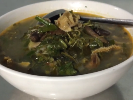 Hấp dẫn món gié bò Bình Định