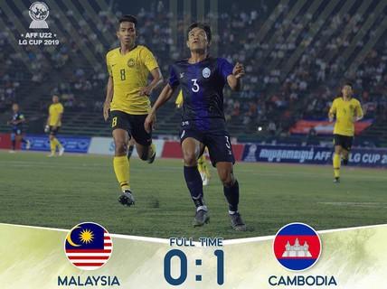 """Clip: U22 Campuchia bất ngờ hạ Malaysia, đứng đầu bảng """"tử thần"""""""