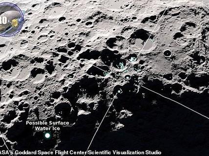 """Bất ngờ khi phát hiện nước đang """"nhảy"""" trên mặt trăng"""
