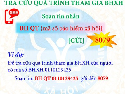 Tra cứu đóng, hưởng BHXH, BHYT bằng tin nhắn điện thoại