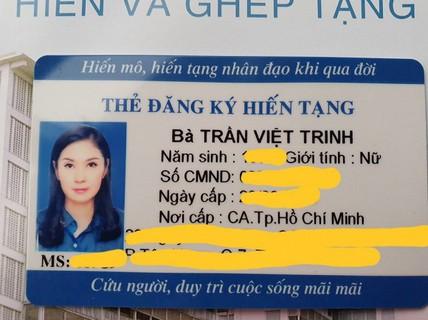 Việt Trinh kêu gọi mọi người cùng cô hiến tạng
