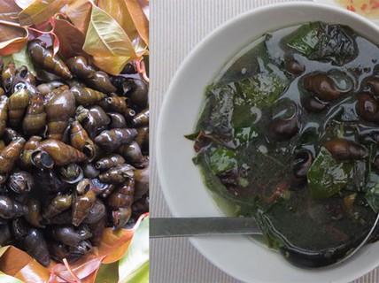 Hương vị quê hương: Rau ranh nấu canh ốc đá