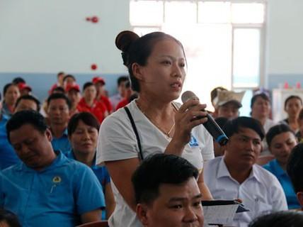 Quảng Nam: Lãnh đạo tỉnh đối thoại với công nhân