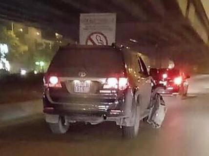 Xe biển xanh 80A gây tai nạn của Cục CSĐT tội phạm về tham nhũng, kinh tế, buôn lậu