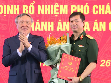 Thiếu tướng 50 tuổi làm Chánh án Tòa án Quân sự Trung ương