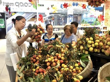 """Vải thiều Bắc Giang bán ở siêu thị rẻ hơn tại """"thủ phủ"""" Lục Ngạn?"""