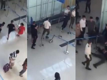Cấm bay 1 năm với người đánh chảy máu đầu nhân viên an ninh hàng không ở Thanh Hóa