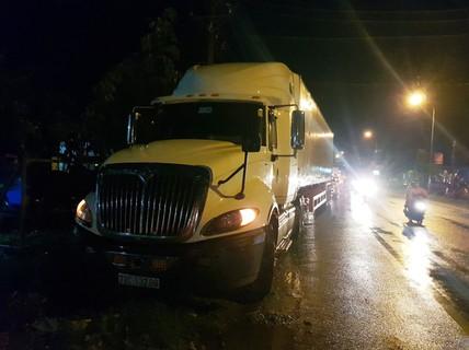Một CSGT bị tai nạn tử vong, tài xế xe container bỏ chạy