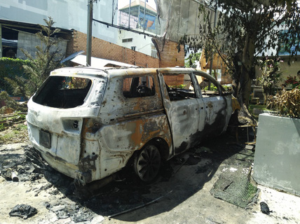 """Chấn động vụ ném """"bom xăng"""" vào quán cà phê ở TP Biên Hòa"""