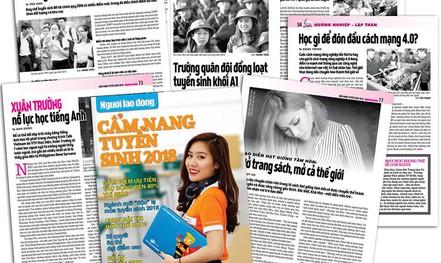 """""""Cẩm nang Tuyển sinh 2018"""" của báo Người Lao Động đến tay độc giả"""