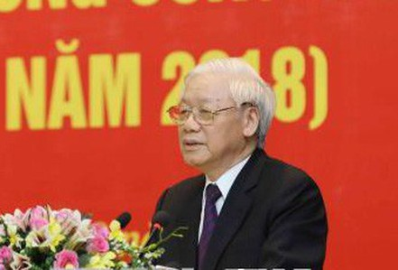 Tổng Bí thư phát biểu chỉ đạo lớp cập nhật kiến thức cho ủy viên Trung ương Đảng