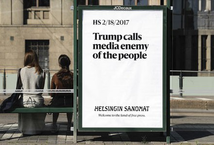 """Truyền thông Mỹ """"so găng"""" với tổng thống Donald Trump"""