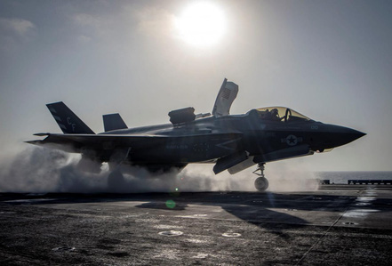 """""""Tia chớp"""" F-35 của Mỹ lần đầu tiên bị rơi"""