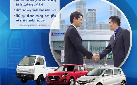 Sở hữu ôtô Suzuki với ưu đãi đặc biệt từ BIDV