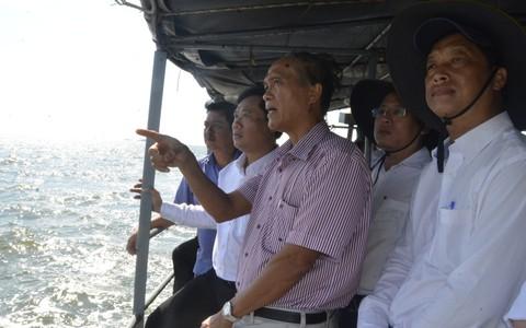 EVN SPC khảo sát tiến độ công trình điện lưới Kiên Bình - Phú Quốc