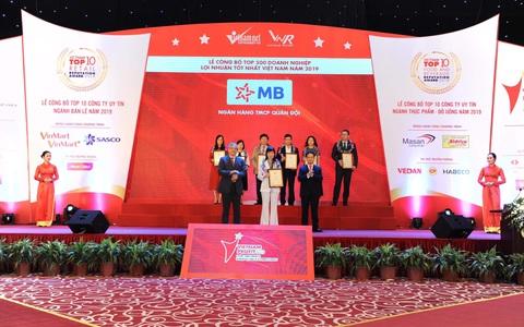 MB lọt top 15 doanh nghiệp lợi nhuận tốt nhất Việt Nam