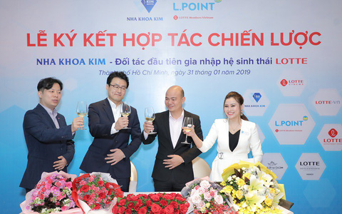 Nha khoa Kim là doanh nghiệp đầu tiên tham gia vào hệ sinh thái của Tập đoàn Lotte