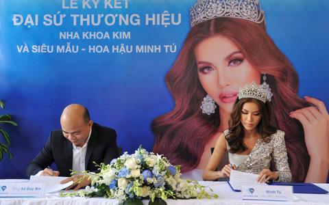 Hoa hậu Minh Tú trở thành đại sứ thương hiệu của Nha khoa Kim