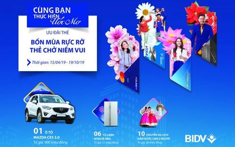 Cùng thẻ BIDV giải nhiệt mùa hè