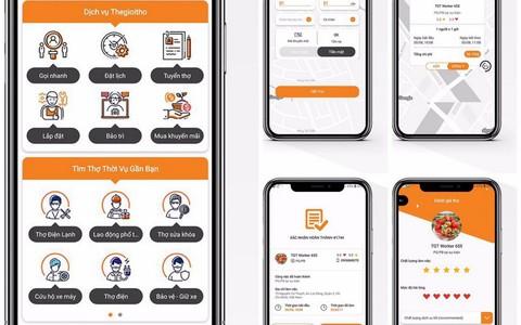 """Startup Việt ra mắt ứng dụng """"Thế Giới Thợ"""" gọi thợ điện, nước..."""