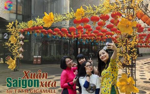 Du xuân đường hoa Sài Gòn xưa, phố ông đồ tại Trung tâm thương mại Gigamall