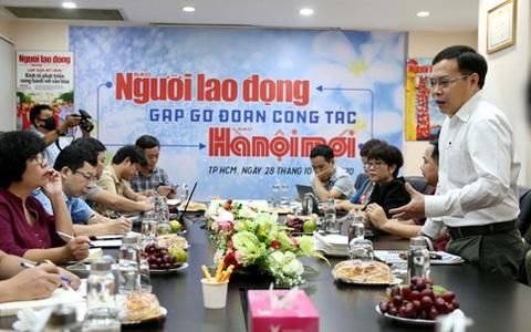 Báo Hà Nội Mới giao lưu, trao đổi kinh nghiệm với Báo Người Lao Động
