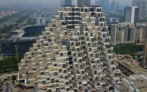 """Vẻ độc đáo của những chung cư """"kim tự tháp"""" ở Trung Quốc"""