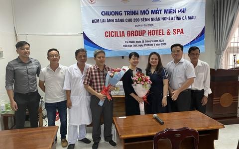 Cicilia Group Hotel & Spa giúp 200 người nghèo ở Cà Mau mổ mắt miễn phí