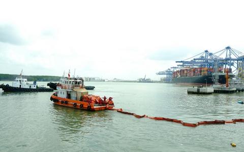 KVT diễn tập tình huống an ninh cảng biển và ứng phó sự cố tràn dầu 2020