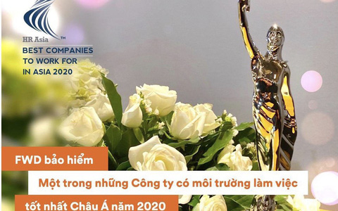 FWD Việt Nam được vinh danh là nơi làm việc tốt nhất châu Á