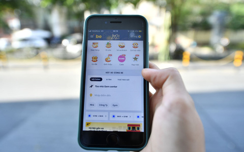 Cake - ngân hàng số đầu tiên hiển thị trên ứng dụng gọi xe công nghệ