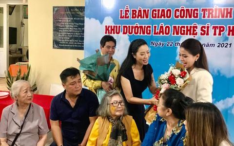 Lý Hùng, Lý Hương nghẹn ngào trong lễ bàn giao công trình Khu dưỡng lão nghệ sĩ