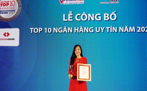 Techcombank là ngân hàng TMCP tư nhân uy tín nhất Việt Nam năm thứ 3 liên tiếp