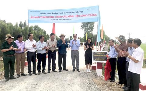 Khánh thành 17 công trình cầu giao thông nông thôn