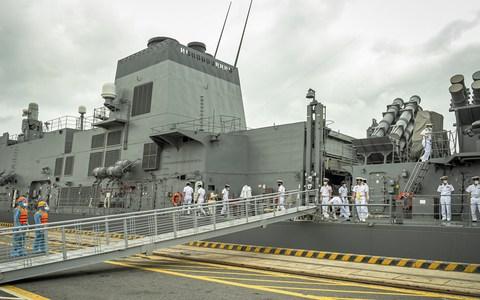 Tàu hộ vệ Akebono thuộc Lực lượng Tự vệ trên biển Nhật Bản thăm TP Hải Phòng