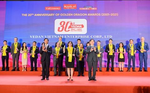 Vedan Việt Nam nhận giải thưởng Rồng Vàng 2020, ghi nhận nỗ lực 30 năm phát triển vì Việt Nam