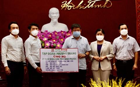 Phương Trang tiếp tục hỗ trợ các địa phương chống dịch